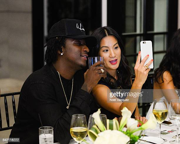 Camp and ThuyAnh J Nguyen attend the RapUp PreBET awards dinner presented by Hennessy at Hotel BelAir on June 21 2016 in Los Angeles California