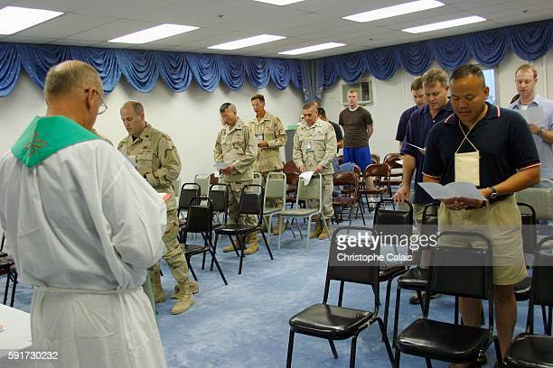Camp As Saliyah Celebrating mass at the American Military Central Command As Saliyah is the US Army's largest prepositioning base outside of the...