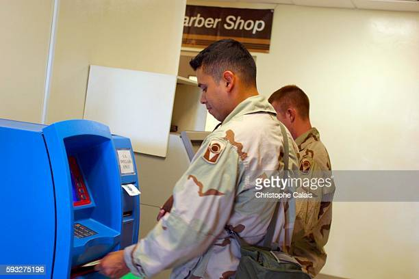 Camp As Saliyah US soldiers withdrawing money at the American Military Central Command near Doha As Saliyah is the US Army's largest prepositioning...