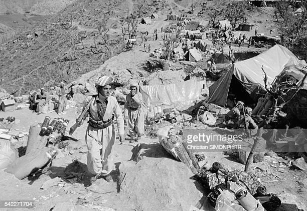 Camp at Khree Neozang and bazaar home to the Patriotic Union of Kurdistan guerrillas in Iraq headed by Kurd leader Jalal Talabani