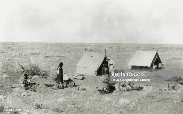 Camp at Zabran Nefud Alternative spelling 'Habrun' Saudi Arabia circa 1913