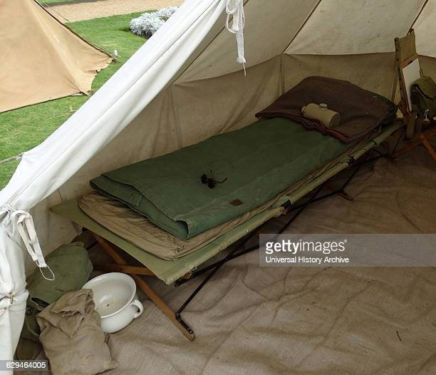 Camp bed used by soldiers during the First World War Dated 1914