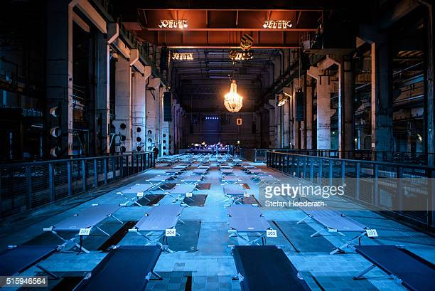 Camp beds await concertgoers for the public world premiere of Max Richter's 8 hour long 'SLEEP' live performance during 'Maerzmuisk' Festival at...