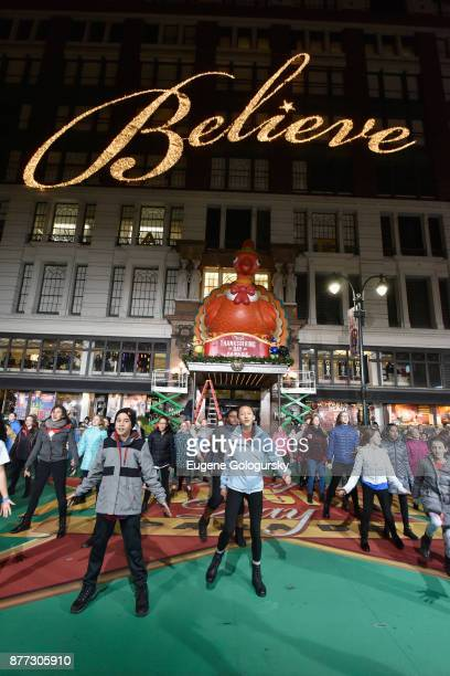 Camp Broadway performs at Macy's Thanksgiving Day Parade Talent Rehearsals at Macy's Herald Square on November 21 2017 in New York City