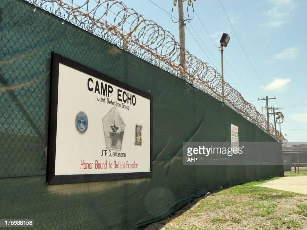 Camp Echo at the US Naval Base in Guantanamo Bay Cuba on August 7 2013 AFP PHOTO/CHANTAL VALERY