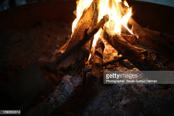 camp fire, bonfire - fire natural phenomenon stock pictures, royalty-free photos & images