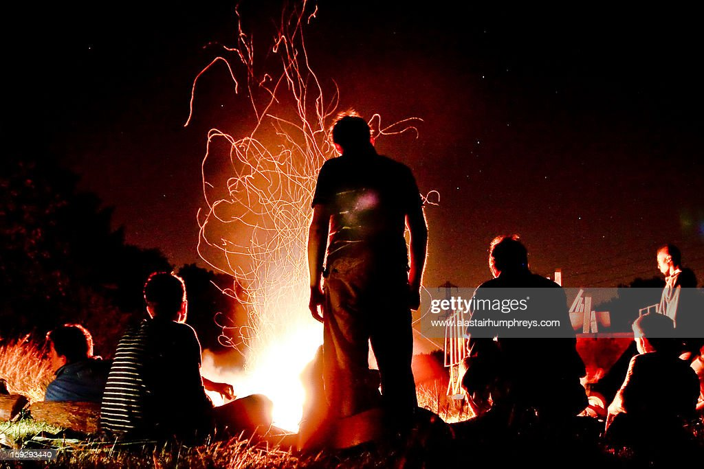 Camp fire : Stock Photo