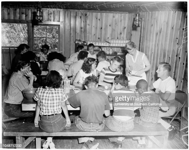 Camp for blind children 28 July 1954 Marion Card David 13 yearsEsperanza 14 yearsRalph 14 yearsWarren Lang Patsy 15 yearsCynthia 13 yearsLorenzo 13...
