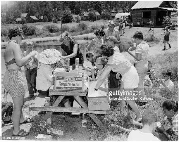 Camp for blind children , 28 July 1954. Marion Card ;David -- 13 years;Esperanza -- 14 years;Ralph -- 14 years;Warren Lang ;Patsy -- 15 years;Cynthia...
