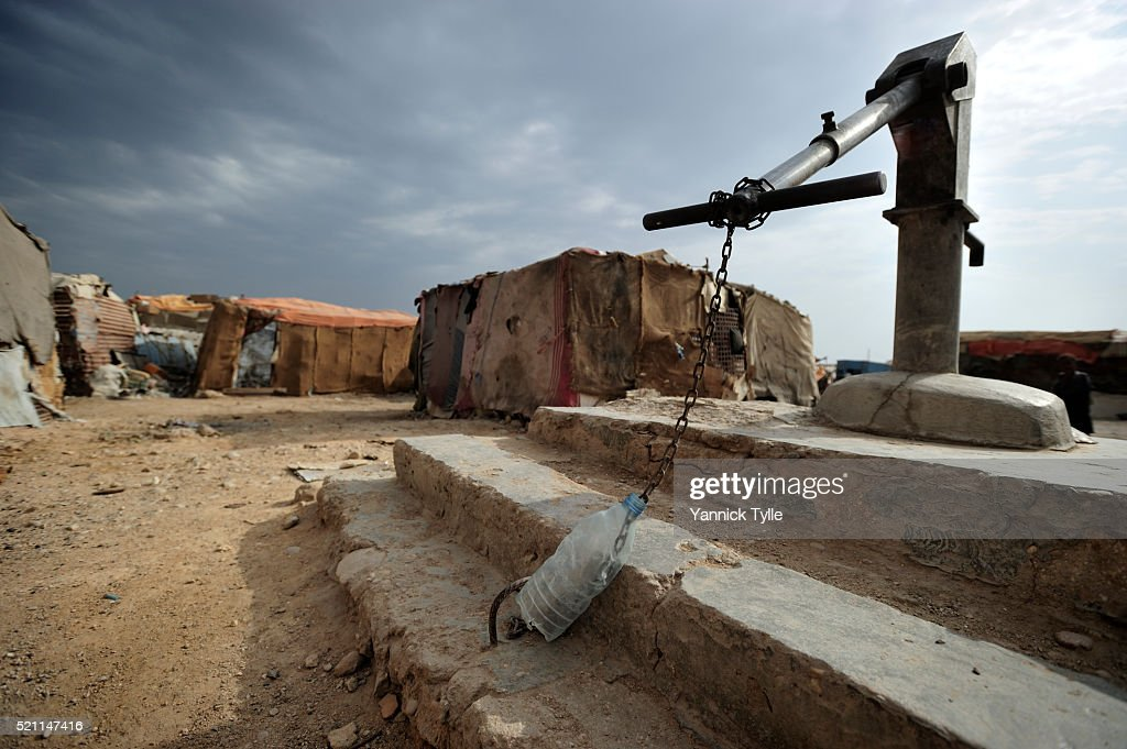 IDP camp in Bosaso, Puntland : Stock Photo
