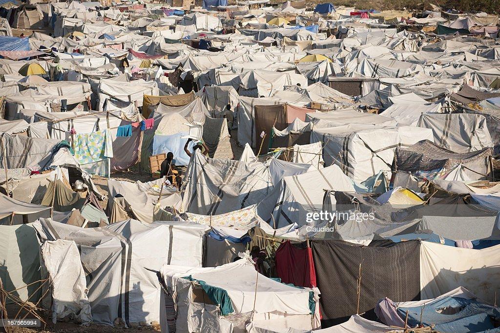 IDP Camp in Haiti : Bildbanksbilder