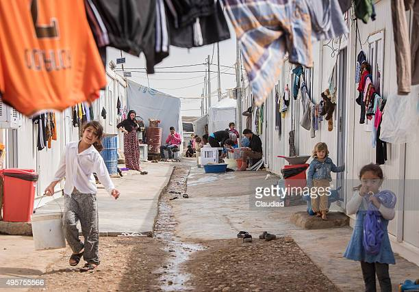 Campo de personas desplazadas internas en la región kurda autonomie