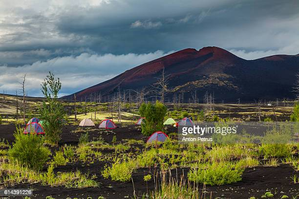 Camp in the Dead Forest, Kamchatka