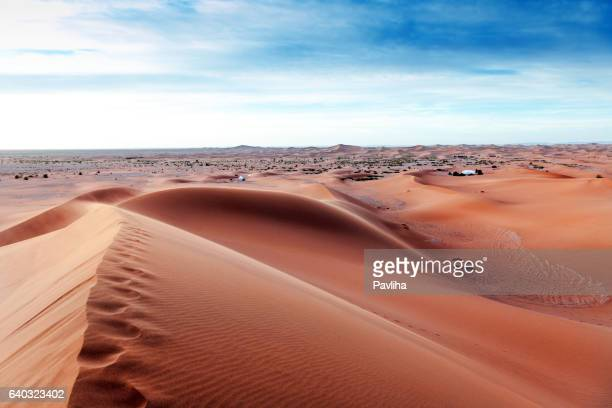 Camp in the morning in the desert Mhamid,Zagora,  Morocco,