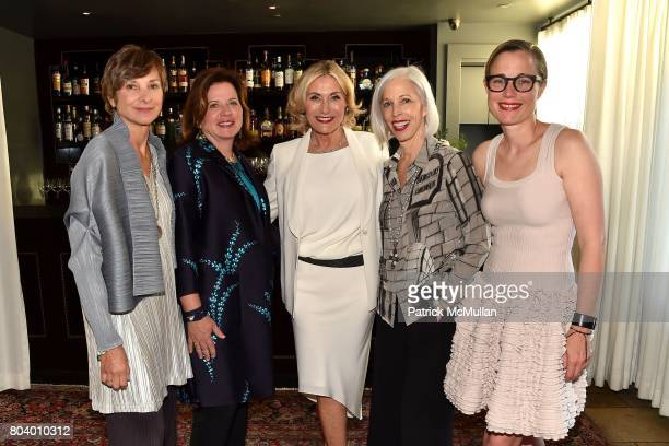 Camp Laura Weil Susan Magrino Dunning Linda Fargo and Carolina Zapf attend James D Dunning Jr's Birthday at The NoMad Hotel on June 7 2017 in New...