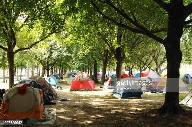 Camp Laykay Nou celebrated a stay in the city of Philadelphia's efforts to forcibly remove the homeless community from the Ben Franklin Parkway in...