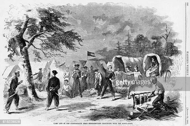 Camp Life in the Confederate ArmyMississippians Practicing with the Bowie Knife