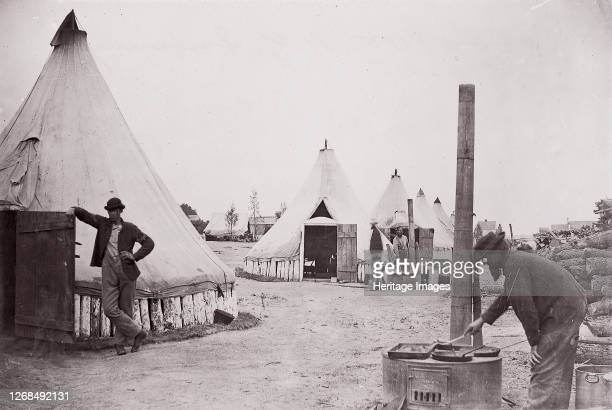 Camp of 153rd New York Infantry circa 1861 Formerly attributed to Mathew B Brady Artist Unknown