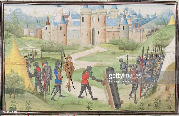 Camp of the Crusaders near Jerusalem Miniature from the Historia by William of Tyre 1460s Found in the collection of the Bibliothèque de Genève