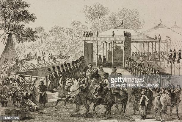 Camp of the Daud Pasha Turkey engraving by Lemaitre Lalaisse and Branche from Turquie by Joseph Marie Jouannin and Jules Van Gaver L'Univers...