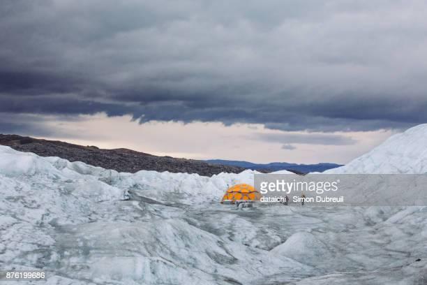 Camp on Greenland inlandsis near Point 660 - Kangerlussuaq