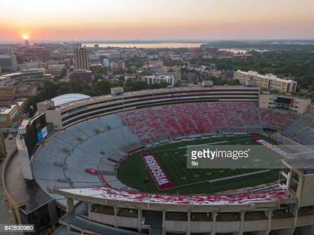 camp randall stadium - madison wisconsin stock pictures, royalty-free photos & images