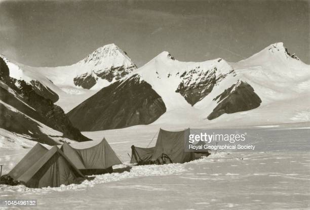 Camp scene Tibet China Mount Everest Expedition 1921