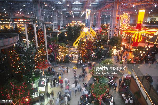 Camp Snoopy is one of many indoor attractions housed inside the Mall of America June, 1999 in Minneapolis, MN. The mall is the largest in America and...