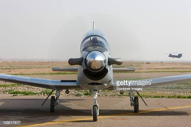 Camp Speicher, Iraq - U.S. Air Force pilots in an Iraqi Air Force T-6 Texan trainer aircraft.