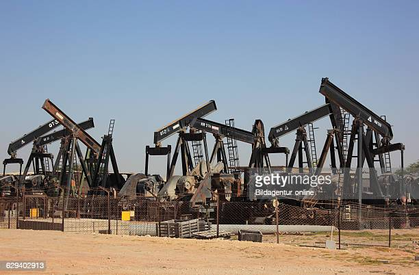 Camp with retired oil pumps with Marmul Oman