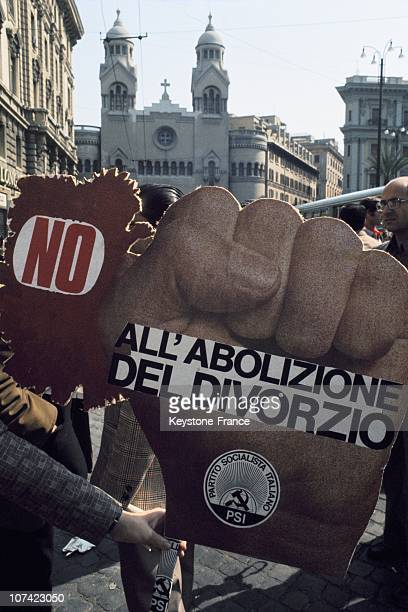 Campaign Against The Abolition Of The Law On Divorce In Italy