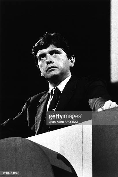 Campaign for the Presidential Election of 1985 in Lima Peru on November 17 1984 Alan Garcia Perez Secretary General of the APRA candidate for the...