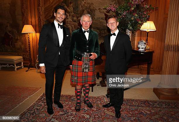 Campaign for Wool Patron Prince Charles Prince of Wales MS CEO Steve Rowe and supermodel and face of MS David Gandy attend a private dinner ahead of...