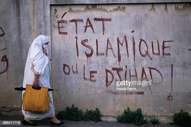 Campaign Graffiti During Legislative Elections in Algeria