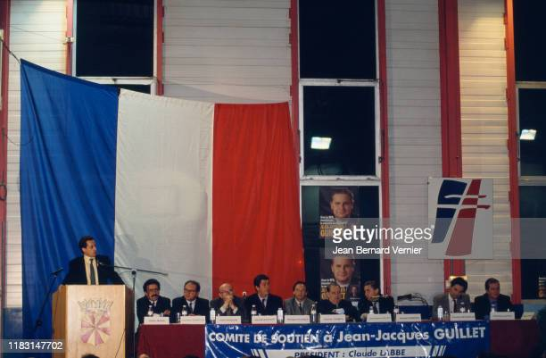Campaign in Meudon, with Nicolas Sarkozy, Charles Pasqua and Patrick Balkany, 03d August 1993