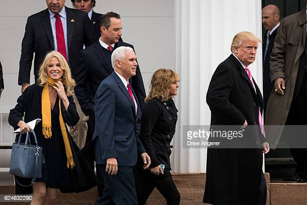 Campaign manager Kellyanne Conway Reince Priebus Presidentelect Trump's pick for White House Chief of Staff Vice Presidentelect Mike Pence Charlotte...
