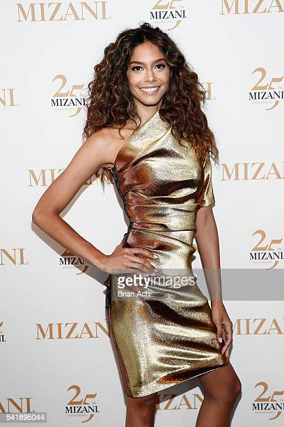Campaign Model Heidy De la Rosa attends the MIZANI 25th Anniversary Celebration and Styling Renaissance Launch hosted by Global Artistic Director and...