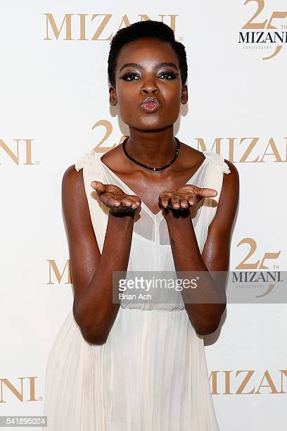 Campaign Model Maria Borges attends the MIZANI 25th Anniversary Celebration and Styling Renaissance Launch hosted by Global Artistic Director and...