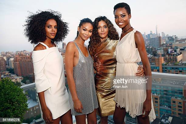 Campaign Models Grace Mahary Chanel Iman Heidy De la Rosa and Maria Borges cohost the MIZANI 25th Anniversary Celebration and Styling Renaissance...