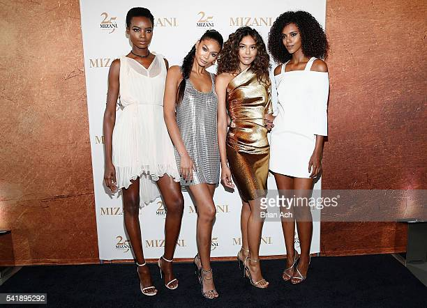 Campaign Models Maria Borges Chanel Iman Heidy De la Rosa and Grace Mahary cohost the MIZANI 25th Anniversary Celebration and Styling Renaissance...