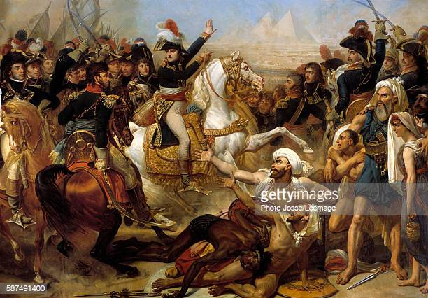 Napoleon Bonaparte haranguing the army before the Battle of the Pyramids July 21 1798 Painting by Antoine Jean Gros oil on canvas89x 311 m Castle...