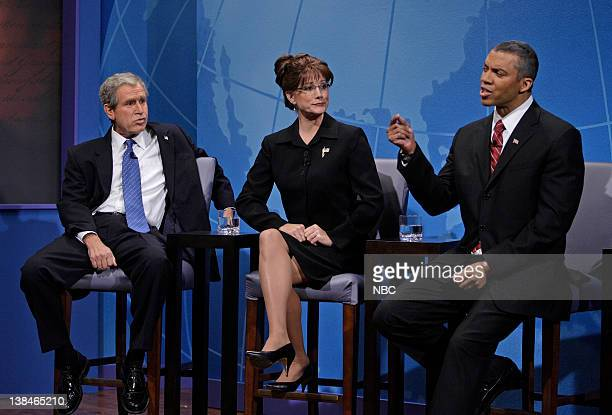 LENO Campaign QA Air Date Episode 3642 Pictured Actor Steve Bridges as President George Bush actress Teresa Barnwell as Vice Presidential nominee...
