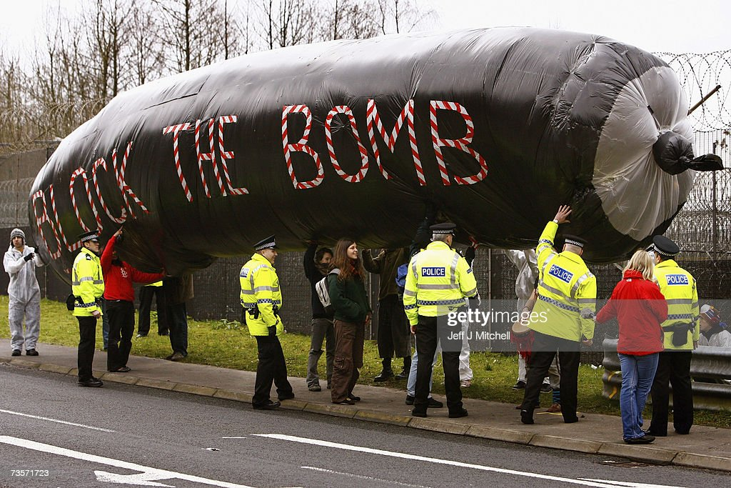 Protestors Campaign Against Trident Replacement Debate : News Photo