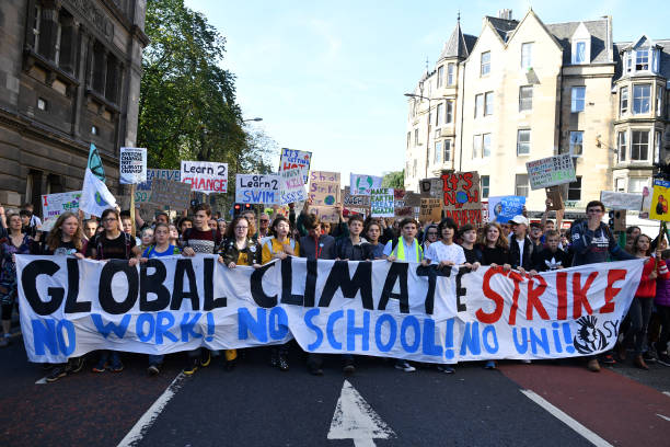 GBR: Activists In Edinburgh Join The Global Climate Strike