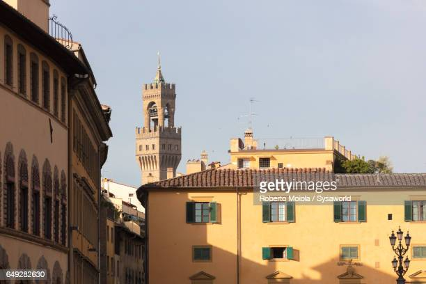 campanile di badia fiorentina florence - italia stockfoto's en -beelden