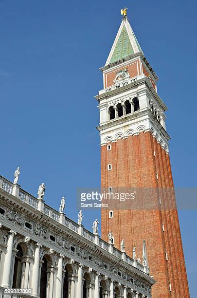 Campanile di San Marco bell tower in San Marco Piazza, Venice, Italy, Europe