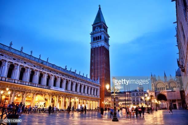 campanile di san marco, venice - basilica di san marco foto e immagini stock