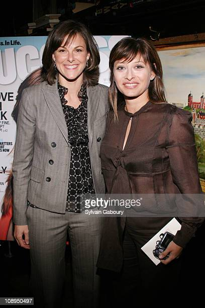 Campbell Brown and Maria Bartiromo during Success Magazine Celebrates Maria Bartiromo's Cover Story at Elaine's in New York NY United States