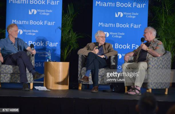 Campbell McGrath Charles Simic and Robert Hass attend The Miami Book Fair at Miami Dade College Wolfson Chapman Conference Center on November 19 2017...