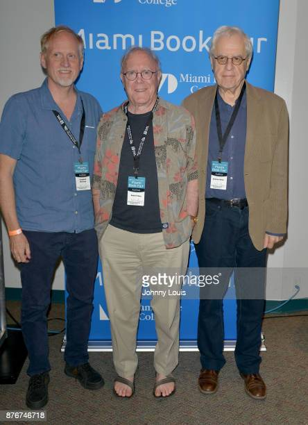 Campbell McGrath Robert Hass and Charles Simic attend The Miami Book Fair at Miami Dade College Wolfson Chapman Conference Center on November 19 2017...